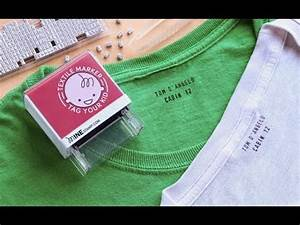 personalized labeler by minestamp the grommet With clothing label stamp