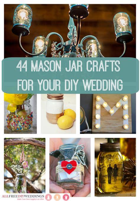 mason jar crafts   diy wedding