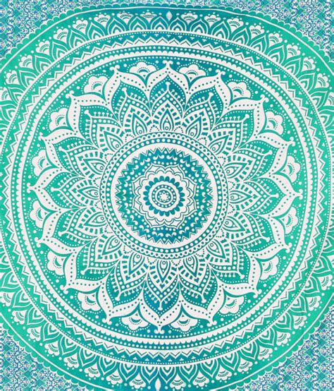 ombre mandala tapestries hippie wall tapestries