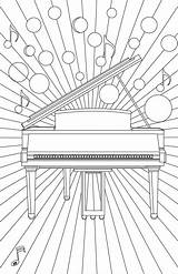 Piano Keyboard Coloring Template Chart sketch template