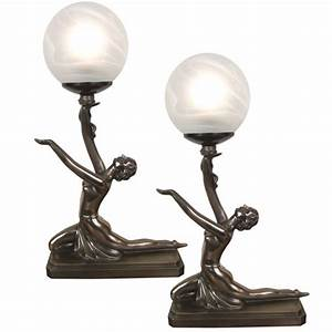 Art deco table lamps Lighting and Ceiling Fans