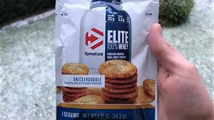 Dymatize Elite 100  Whey Protein Review  Snickerdoodle Flavor