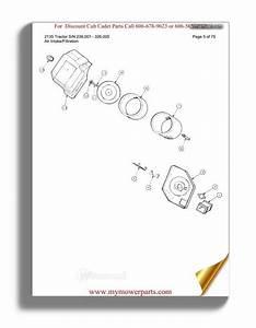 Cub Cadet Parts Manual For Model 1715 Sn 126001 147087