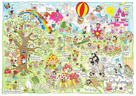 Puss In Boots Images Giant Map Of Fairyland Fantasy Maps Pty Ltd