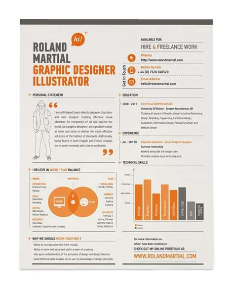 curriculum vitae for a graphic designer 30 creative resume designs that will make you rethink your cv