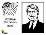 Carter Presidents President James Yescoloring Printables Coloring Reagan Ronald Prestigious Usa sketch template