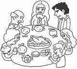 Dinner Thanksgiving Coloring Pages Printable sketch template