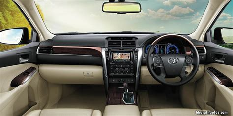 toyota camry hybrid india dashboard interior cabin