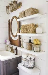 provincial bathroom ideas country bathroom with shelves installed above toilet decoist