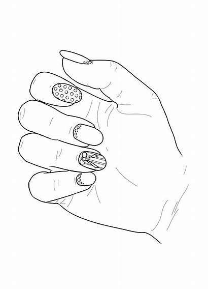 Coloring Nail Nails Adult Polish Realistic Nagel