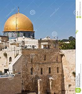 Western Wall And The Dome Of The Rock Stock Photo - Image ...