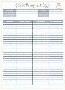 Loan Repayment Template Excel Twenty63 Debt Payment Log Printables Home Management