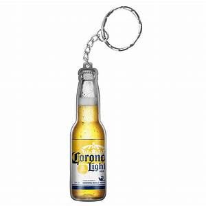 Corona Light Bottle Shaped Keychain Opener