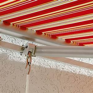 Markise 2 50m Breit : sunfun gelenkarmmarkise rot gelb breite 4 m ausfall 2 5 m bauhaus ~ Buech-reservation.com Haus und Dekorationen