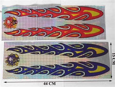 1 Pair, 44cm Flame Decal For Car,