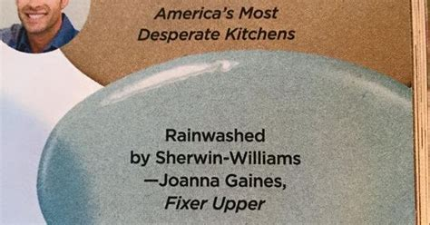 joanna gaines blue paint fixer upper rainwashed