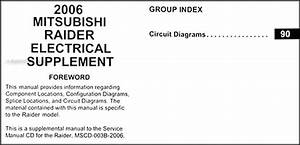 2006 Mitsubishi Raider Wiring Diagram Original