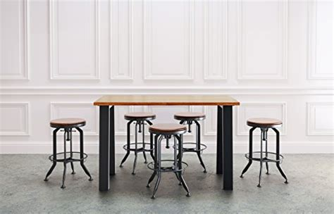 umbuzoe reclaimed wood counter height pub table diningbee