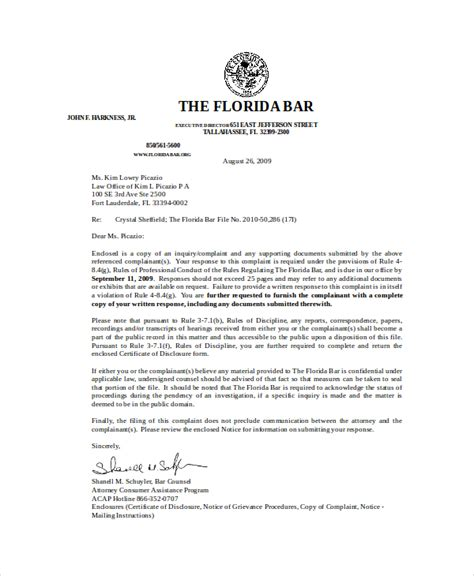 letter example rebuttal reprimand
