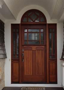 Wood Exterior Door With Circle Window Joy Studio Design