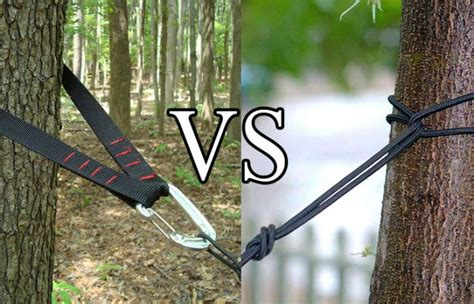 How To Use Hammock Tree Straps by Tree Straps Vs Rope For Hammock Outdoor Federation