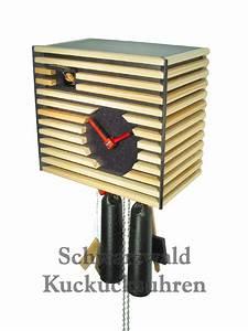 Schwarzwald Kuckucksuhr Modern : kuckucksuhr modern bauhaus stil schwarz 8 tag werk neu ebay ~ Sanjose-hotels-ca.com Haus und Dekorationen