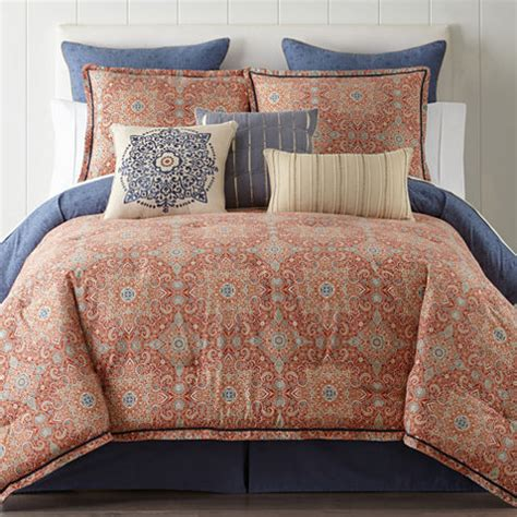 jcpenney home collection comforter jcpenney home adeline 4 pc bohemian reversible comforter