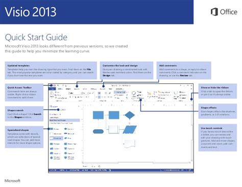 Microsoft Visio 2013 Quickstart