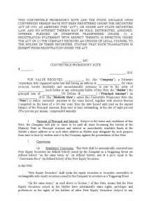 convertible promissory note template  securities