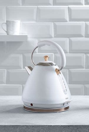 pyramid kettle white   kettle kettle toaster copper kitchen accessories