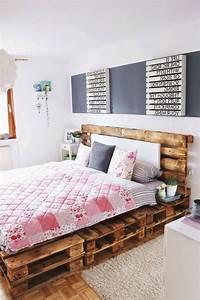 Bett Auf Paletten : die besten 25 palettenbett ideen auf pinterest ~ Sanjose-hotels-ca.com Haus und Dekorationen