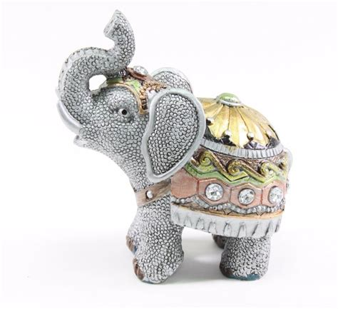 elephant home decor feng shui 4 5 quot gray elephant trunk statue lucky figurine