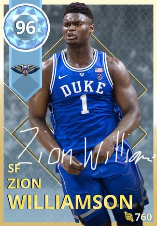 zion williamson nba  custom card kmtcentral