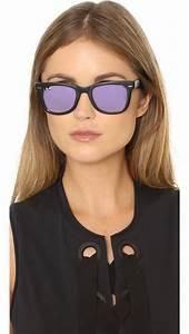 Light Ray Ban Sunglasses Ray Ban Mirrored Wayfarer Sunglasses In Black Lyst