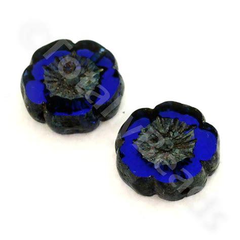 glass bead table l table cut glass bead royal blue flower 12mm