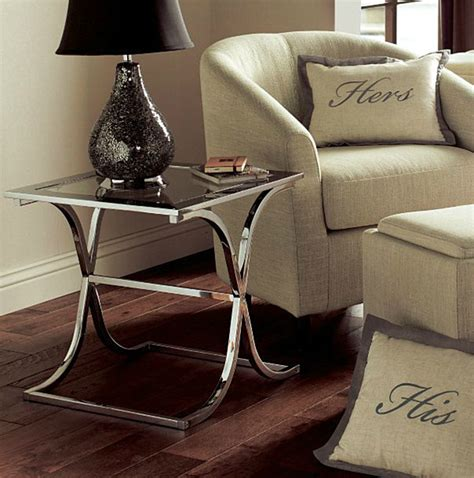 modern chrome accent   house chairs  tables