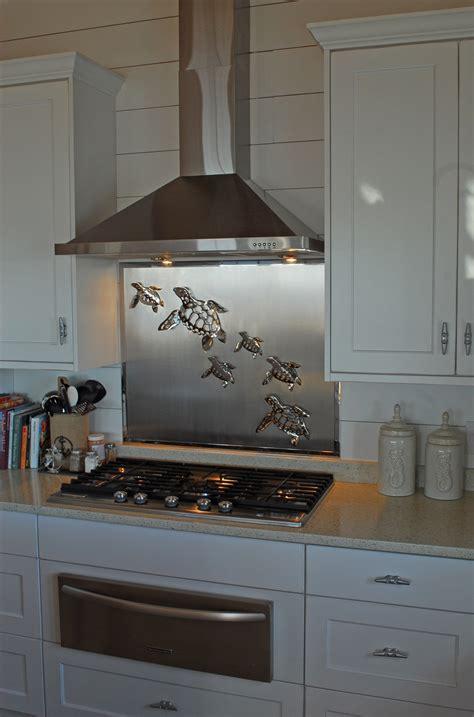 stainless steel kitchen backsplash stainless steel backsplash with sea turtles r mended 5719