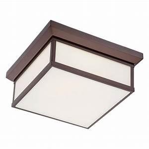 Metropolitan square flush mount ceiling light available in