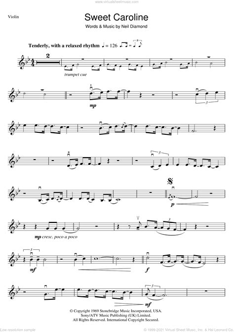 Violin duet using triplets dont throw your junkbottles of. Diamond - Sweet Caroline sheet music for violin solo PDF