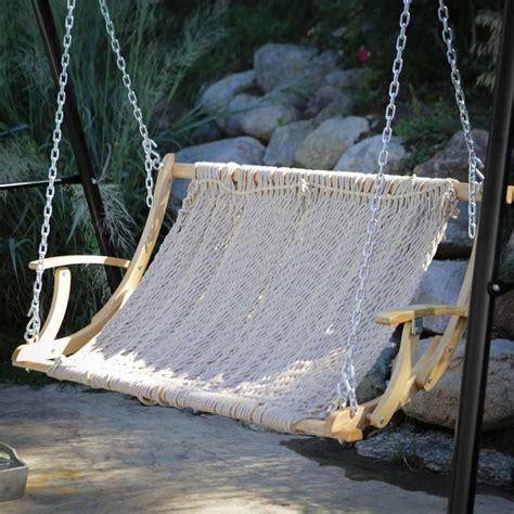 rope 2 person outdoor patio garden hammock swing