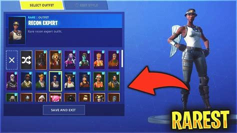 rarest fortnite account recon expert tracker
