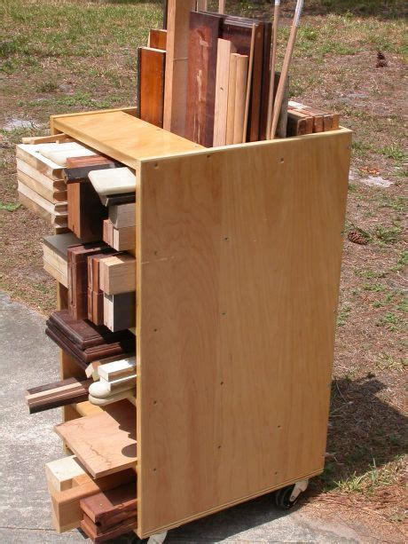 scrap cart lumber storage