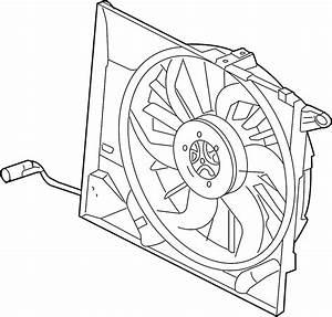 Jaguar Xk8 Fan  Motor  And  Cowl  Engine Cooling Assembly