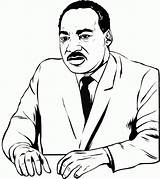 Luther Martin King Coloring Jr Pages Mlk Printable Sheets Clipartmag Kings Getcoloringpages Clipart sketch template