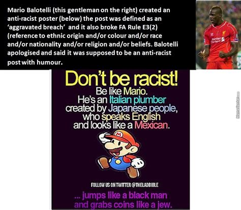 Anti Racist Memes - mario balotelli quot anti racist post quot by recyclebin meme center