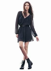 Bottines Avec Robe : robe fluide sign e mango yba ~ Carolinahurricanesstore.com Idées de Décoration