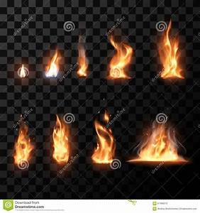 Realistic Fire Flames Set Stock Vector - Image: 67468210