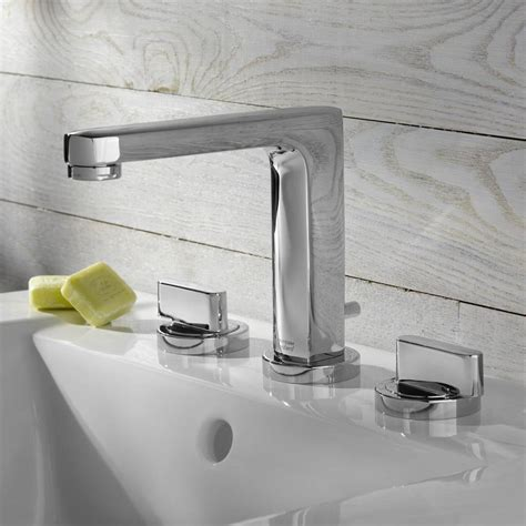 Bathroom Sink With 2 Faucets by Moments Widespread High Arc Bathroom Faucet American