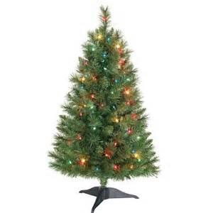 holiday time pre lit 3 winston christmas tree multi colored lights walmart com