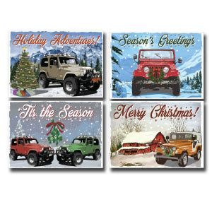 christmas jeep card all things jeep jeep ornaments and christmas cards